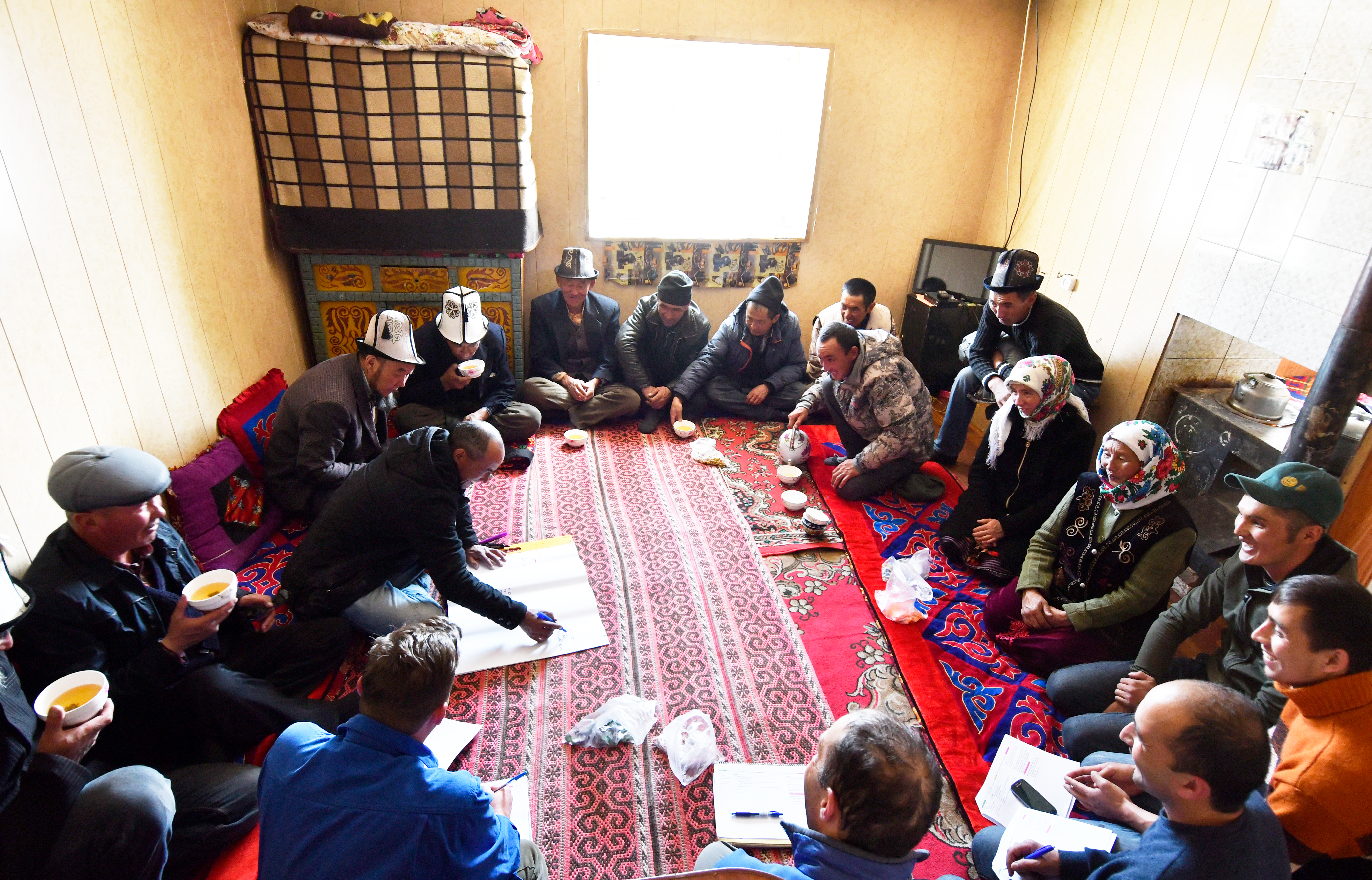 Community meeting in Alichur village